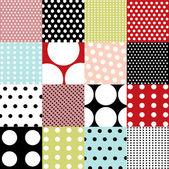 Nahtlose muster, polka-dot-gruppe — Stockvektor