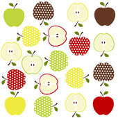 Fruits background — Stock Vector