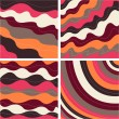 Seamless patterns with fabric texture — Stock Vector #9599729