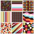 Seamless patterns with fabric texture — Stock Vector #9599808