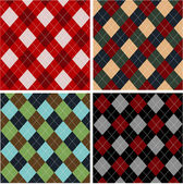 Set of plaid patterns, cottons — Stock Vector