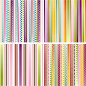 Colorful seamless patterns with fabric texture — Vettoriale Stock