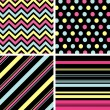 Seamless patterns with fabric texture — Stock Vector #9600021