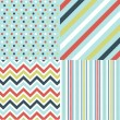 Seamless patterns with fabric texture — Stockvektor #9600029