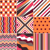 Seamless patterns with fabric texture — Vecteur