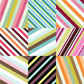 Seamless patterns with fabric texture — Stockvector