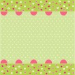 Stock Vector: Seamless baby pattern, baby card