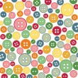 seamless sewing buttons colorful pattern — Stock Vector