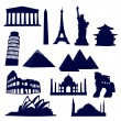 Stock Vector: World landmarks