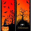 Royalty-Free Stock ベクターイメージ: Set of Halloween banners