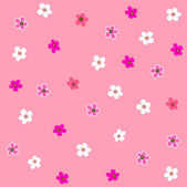Seamless pink flower plaid pattern — Stock Vector