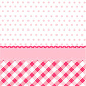 Seamless baby girl pattern, wallpaper — Stock Vector