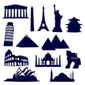 Monuments du monde — Vecteur
