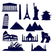 World landmarks — Stock Vector