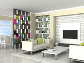 Interior of the modern room, living room — Stockfoto