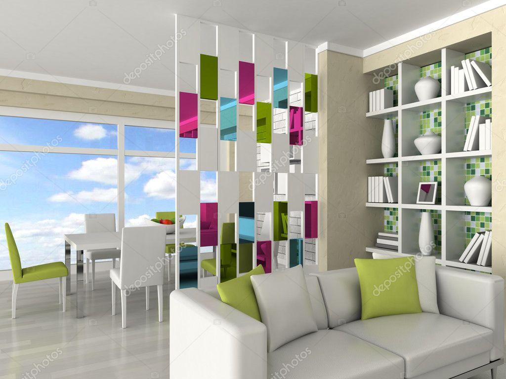 Fotos Van Modern Interieur : Interieur van de moderne kamer, woonkamer ...