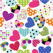 Royalty-Free Stock Vector Image: Heart patches