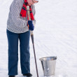 Woman and ice pick — Stock Photo #10064539