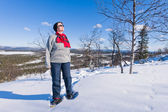 Snöskor kvinna — Stockfoto