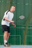 Jogador de badminton — Fotografia Stock