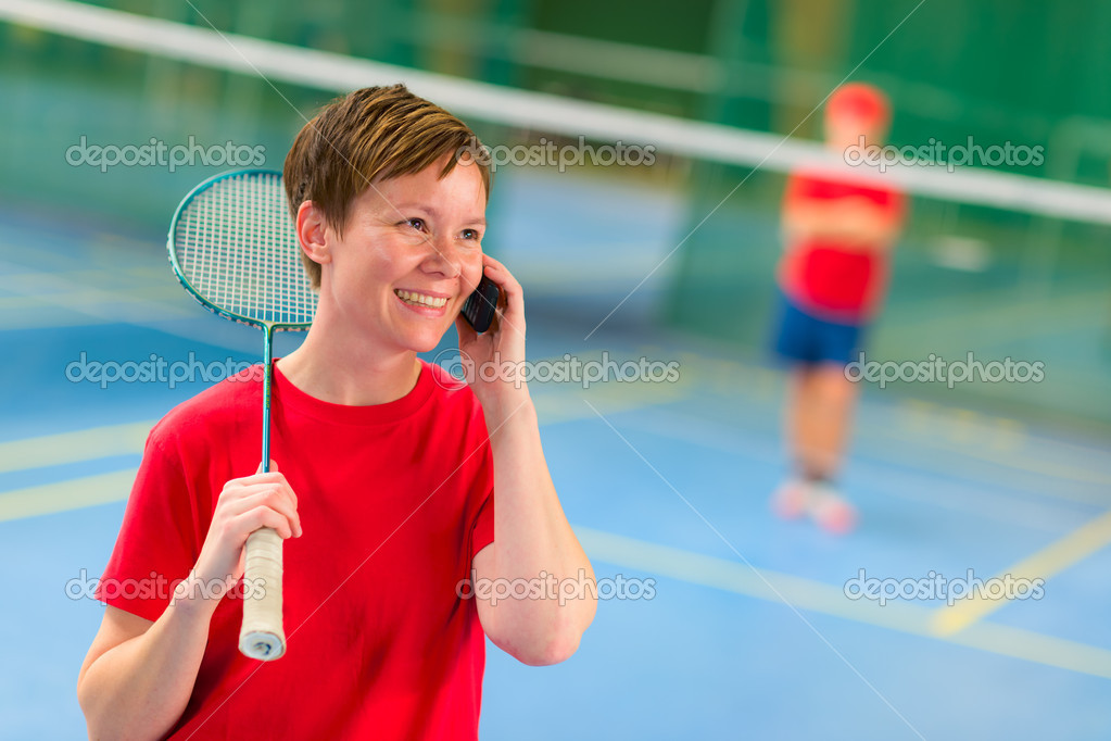 Untoward phone call middle of the game. — Stock Photo #9388158