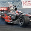 Racing car of formula-1 Mclaren Mercedes teams — Stock Photo
