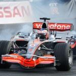 Racing car of formula-1 Mclaren Mercedes teams — Stock Photo