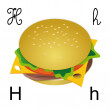 H hamburger — Stock Vector