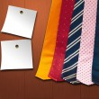 Ties and post it — Foto de Stock
