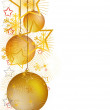 Stock Vector: Gold Christmas 1