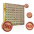 Neapolitan bingo numbers — Stock Photo