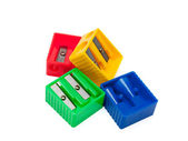 Colored pencil sharpeners — Stock Photo