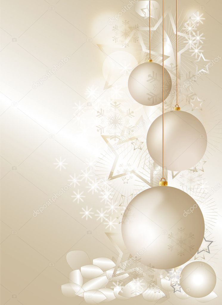 Gold Christmas 1 — Stock Vector #9831305