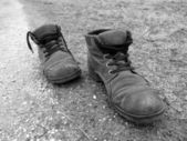 Shoes in black and white — Stok fotoğraf