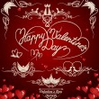 Decorative elements on Valentine's Day. — Imagens vectoriais em stock