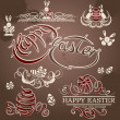 Happy Easter vector set: design elements. — Stock Vector