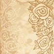 Romantic vintage rose background. — Imagen vectorial