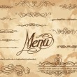 Vector decorative ornate design elements & calligraphic page decorations. - Stock Vector