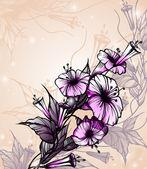 Floral background. — Stockvektor