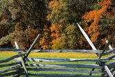 Gettysburg-Zaun — Stockfoto