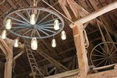 Barn chandelier — Stock Photo
