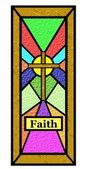Easter faith stain glass window — Stock Photo
