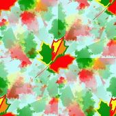 Autumn leaves kaleidscope — Stock Photo