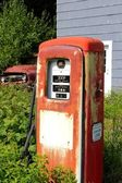 Gas pump and truck — Stock Photo