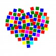 Square heart — Stock Photo