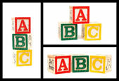 Blocs en bois alphabet abc — Photo
