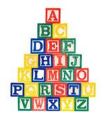 Wooden Alphabet Blocks — Stock Photo