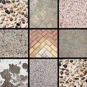 Stone texture collage — Stock Photo