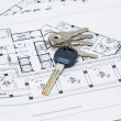 House keys and plan — Foto Stock