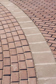 Brick Walk Way — Stock Photo